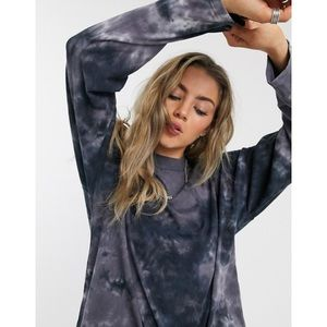Free People Be Free Tie Dye Tee in Charcoal Combo